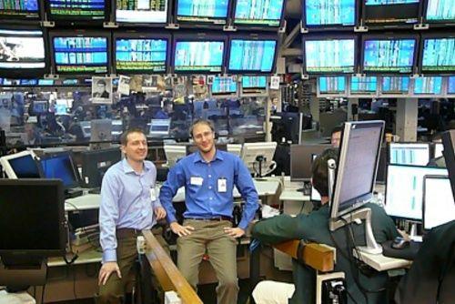 Petr s Tomášem na opční burze v Chicagu